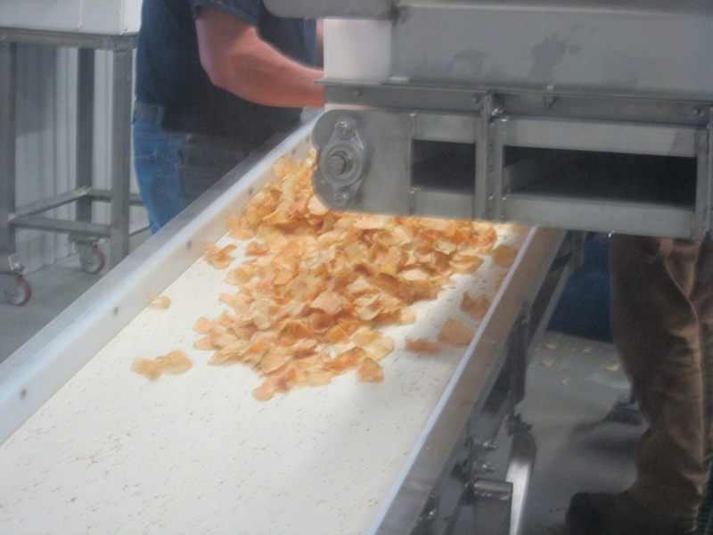 Inside the Potato Chip factory